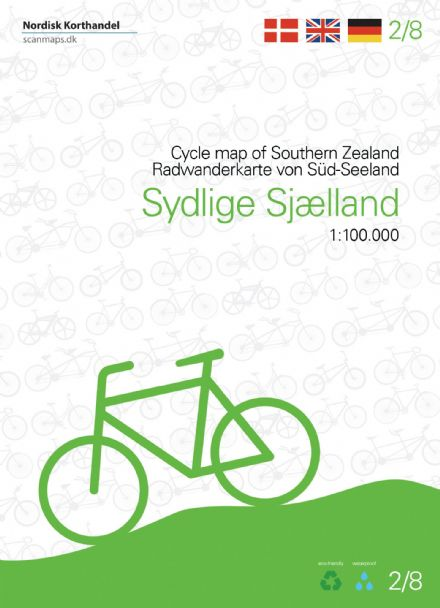 Denmark Cycling Map - 02 - Southern Zealand